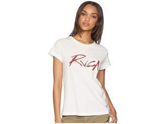 RVCA Inkwell Short Sleeve Shirt Women's Clothing
