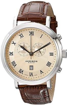 Akribos XXIV Men's AK591SS Swiss Chronograph Leather Strap Watch