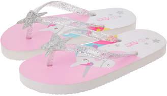 Accessorize Unicorn Flip Flops