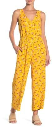 Mimichica Mimi Chica Button Down Floral Jumpsuit