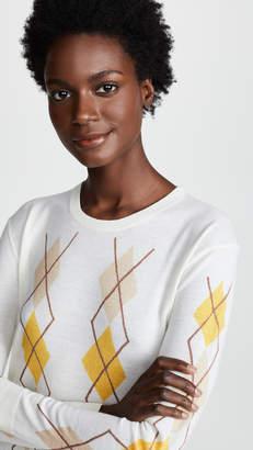 Pringle Merino Wool Argyle Sweater