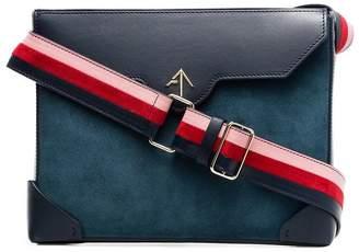 Atelier Manu blue bold leather shoulder bag