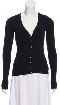 Michael Kors Rib Knit V-Neck Cardigan