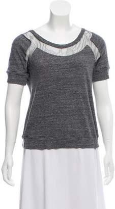 Chloé Lace-Trimmed Knit Top