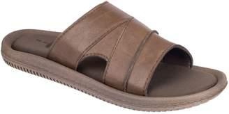 Black Brown 1826 Memory Foam Slider Sandals