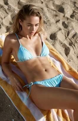 LA Hearts Basic Light Blue Triangle Bikini Top