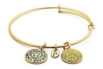 Chrysalis By Silver Willow Chrysalis Women Brass Gold Crystal Bangle CRBT0111GP-