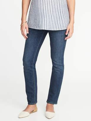 Old Navy Maternity Side-Panel Original Straight Jeans