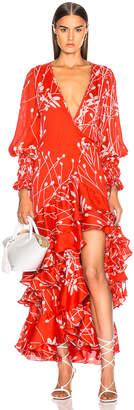 Alexis Rodina Dress in Coral Petals | FWRD