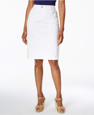 Charter Club Denim Pencil Skirt, Created for Macy's $54.50 thestylecure.com