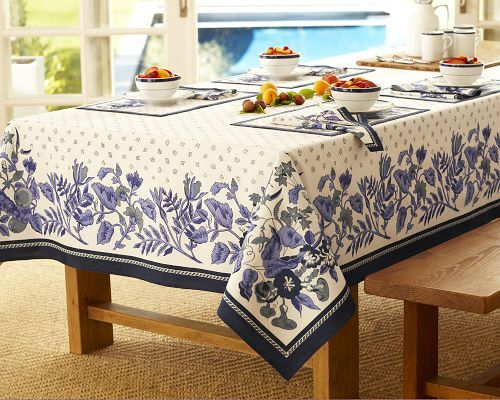 Seasonal Provence Tablecloths, Blue & White