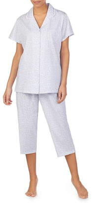 Eileen West Jersey Crop Pajamas