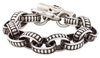 Kieselstein-Cord Textured Link Bracelet