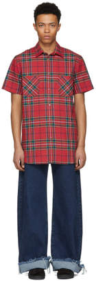 D by D Red Plaid Short Sleeve Shirt