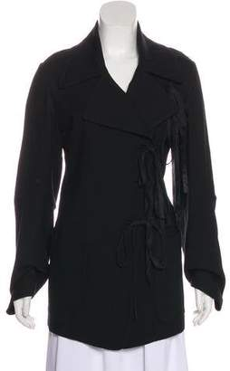 Ann Demeulemeester Fringe-Accented Wool Coat