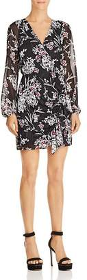 GUESS Rhodes Metallic Floral-Print Dress
