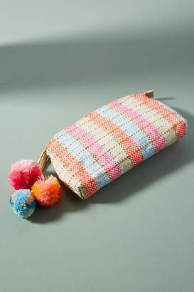 Anthropologie En Shalla Woven Leather Pouch