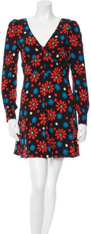 Saint LaurentSaint Laurent Seventies Flower Dress