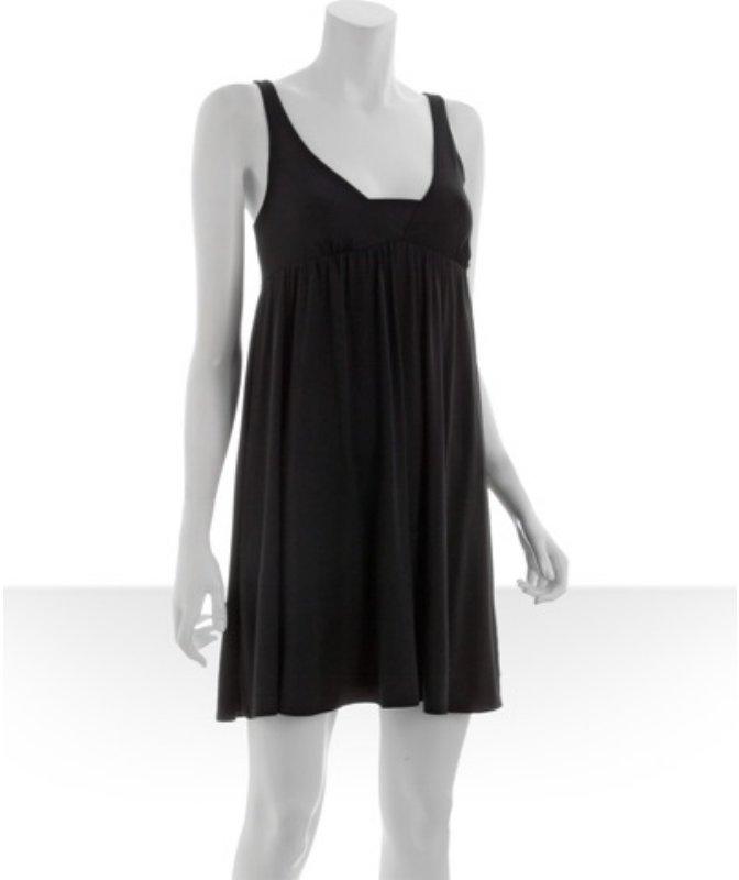 Tart black jersey 'Devon' v-neck babydoll dress