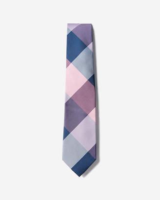 Express Narrow Check Silk Tie