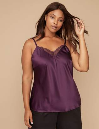 Lane Bryant Satin Sleep Cami with Lace