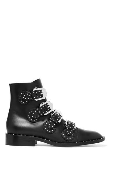 Givenchy - Studded Leather Ankle Boots - Black