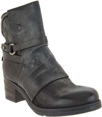 Miz Mooz Leather Buckle Mid Boots - Salma