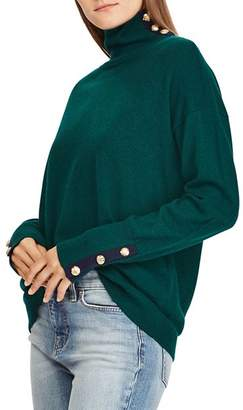 Ralph Lauren Cashmere Button-Trim Turtleneck - 100% Exclusive