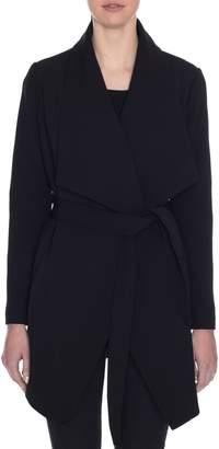 Tahari Abbey Draped Collar Wrap Coat