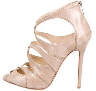 Jimmy Choo Shimmer Suede Strap Sandals