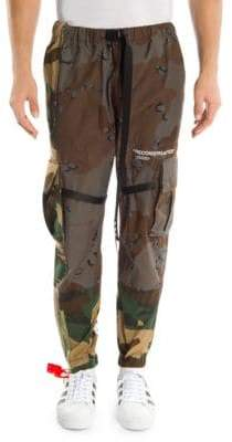Off-White Reconstructed Camo Cargo Pants