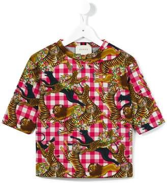 Gucci Kids jungle animal print T-shirt