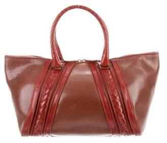 Bottega Veneta Lizard Tote Bag Red Lizard Tote Bag