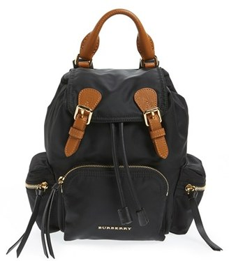 Burberry 'Small Runway Rucksack' Nylon Backpack - Black $1,150 thestylecure.com