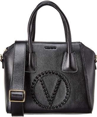 Mario Valentino Valentino By Minimi Rock Dollaro Studs Leather Tote