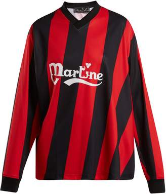 Martine Rose Long-sleeved twisted football shirt