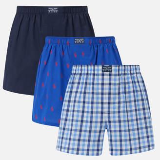 1ea1b7bbf Polo Ralph Lauren Men s 3 Pack Woven Boxer Shorts