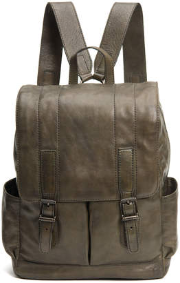 Frye Men's Oliver Leather Buckle Backpack, Olive