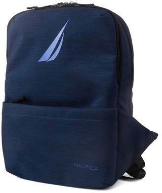 Nautica Quilted Tech USB Water Resistant Nylon Laptop Backpack