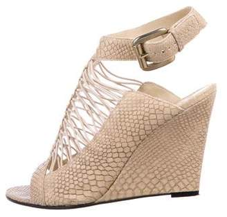 Givenchy Embossed Leather Wedges