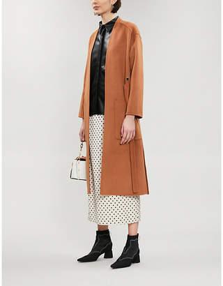 Maje Galiro single-breasted wool-blend coat