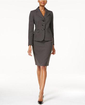 Le Suit Dot-Print Skirt Suit $200 thestylecure.com