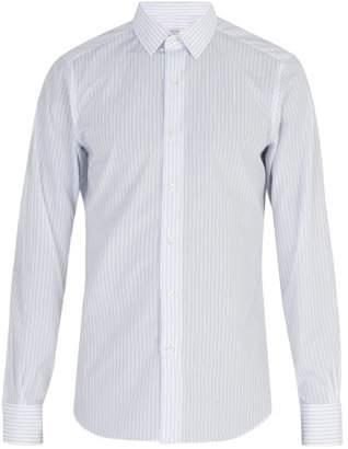Valentino Striped Cotton Shirt - Mens - Blue