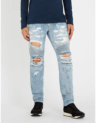 Balmain Biker distressed regular-fit jeans