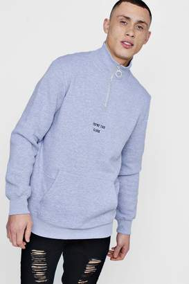 boohoo Too Close Funnel Neck Sweatshirt
