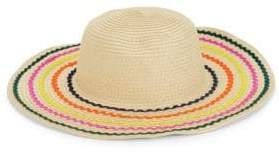 BCBGeneration Rainbow Stripe Straw Hat
