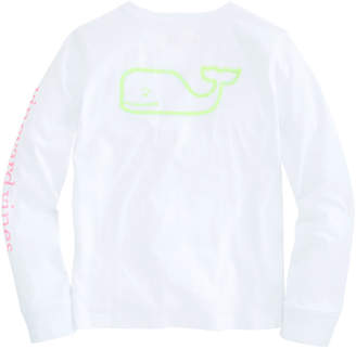 Vineyard Vines Girls Long-Sleeve Glow In The Dark Pocket Tee