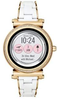 Michael Kors Sofie Touchscreen Goldtone Silicone Strap Smartwatch