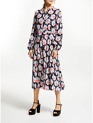 Somerset by Alice Temperley Floral Button Up Dress, Multi