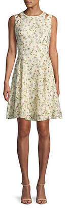 Gabby Skye Floral Lace Sleeveless Dress